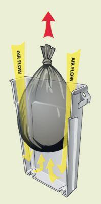 Rubbermaid Wertstoffsammler aus Kunststoff - Volumen 87 l, Lüftungskanäle