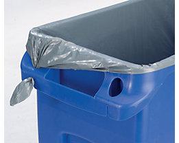Sacs-poubelle - polyéthylène - gris, 800 x 1000 mm, lot de 250