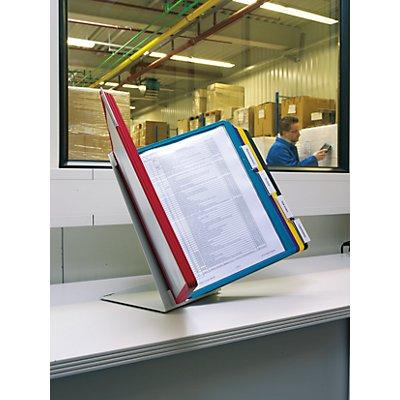 Durable Tischständer-Komplett-Set - Ständer in L-Form aus Stahlblech