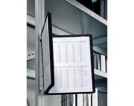 Durable Kit complet support mural magnétique - 5 pochettes transparentes A4 coloris noir