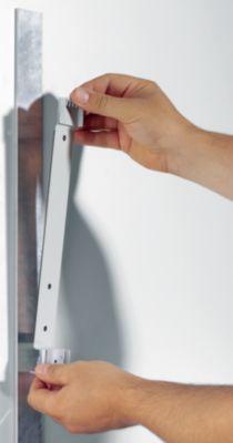 Durable Wandhalter-Komplett-Set, magnetisch - 5 Klarsichttafeln DIN A4 in schwarz
