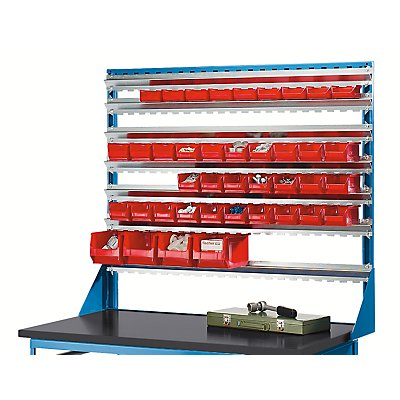 EUROKRAFT Schienenaufbau für Montagewagen - mit 7 Schienen - LxB 1170 x 1042 mm