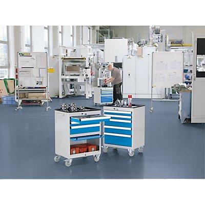 EUROKRAFT Schubladenschrank, fahrbar - HxBxT 850 x 600 x 450 mm