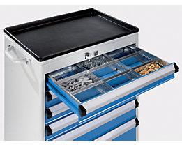 Schubladeneinteilungs-Set - Schrankbreite x -tiefe 600 x 450 mm - Höhe 100 mm, 9 Fächer
