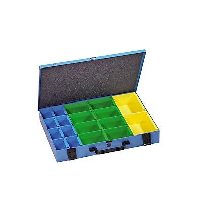 EUROKRAFT Sortimentskoffer aus Stahlblech - inkl. Systemdosen