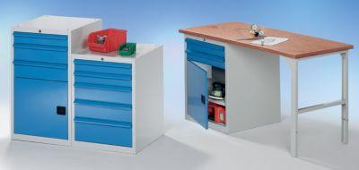 QUIPO Werkzeugschrank, BxT 600 x 600 mm - Höhe 800 mm, 5 Schubladen