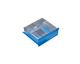 Schubladeneinteilungs-Set - 3 Fächer für Schubladenhöhe 200 mm - 1 Längs-, 1 Querteiler