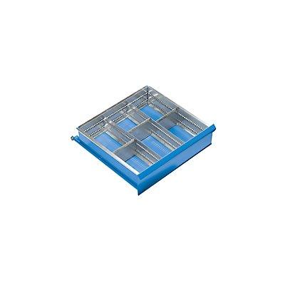 Schubladeneinteilungs-Set - 6 Fächer für Schubladenhöhe 150 mm - 2 Längs-, 3 Querteiler