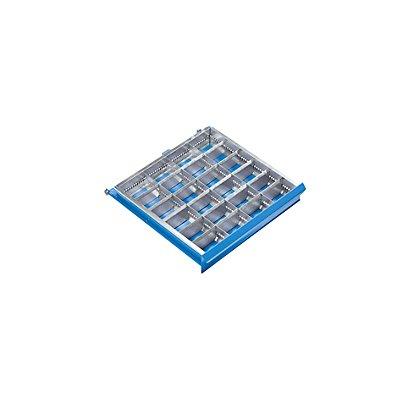 Schubladeneinteilungs-Set - 24 Fächer für Schubladenhöhe 100 mm - 3 Längs-, 20 Querteiler