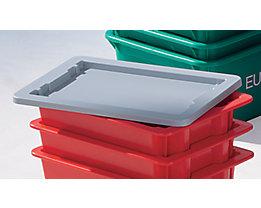 Deckel aus Polystyrol, VE 2 Stk - für Drehstapelbehälter - 6 l