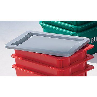 Plastipol-Scheu Deckel aus Polystyrol, VE 2 Stk - für Drehstapelbehälter
