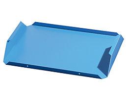 Entnahmeboden - Stahlblech, lichtblau, VE 2 Stk - für BxT 340 x 240 mm