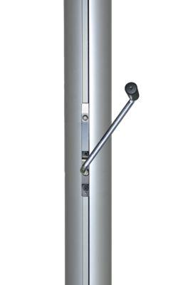 Mannus Fahnenmast aus eloxiertem Aluminium - mit Spezialkurbel, Ø 75 mm, ohne drehbaren Ausleger
