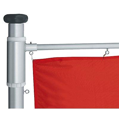 Mannus Fahnenmast aus eloxiertem Aluminium - mit Spezialkurbel, Ø 75 mm, mit drehbarem Ausleger