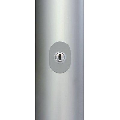 Mannus Fahnenmast aus eloxiertem Aluminium - mit Zylinderschloss, Ø 75 mm, ohne drehbaren Ausleger