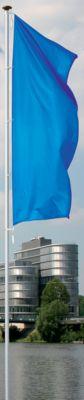 Mannus Fahnenmast aus eloxiertem Aluminium - mit Zylinderschloss, Ø 100 mm, mit drehbarem Ausleger