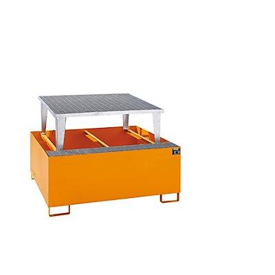 BAUER Stahl-Auffangwanne für Tankcontainer - LxBxH 1460 x 1460 x 1083 mm