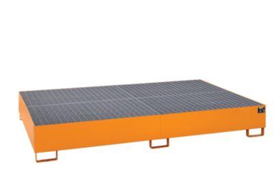 Stahl-Auffangwanne für Tankcontainer - LxBxH 2690 x 1650 x 375 mm