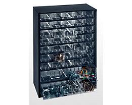 Bloc-tiroir à tiroirs translucides - h x l x p 460 x 306 x 155 mm, charge max. bloc 50 kg