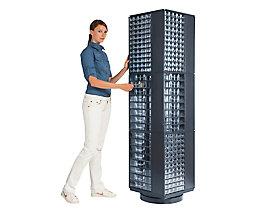 Support rotatif pour blocs-tiroirs - h x l x p 1800 x 460 x 460 mm, 3 niveaux