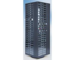 Support rotatif pour blocs-tiroirs - h x l x p 1670 x 545 x 545 mm, 4 niveaux