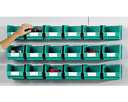 Kit de rails avec bacs à bec - 3 rails, 18 bacs