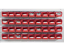 Kit de rails avec bacs à bec - 4 rails, 36 bacs