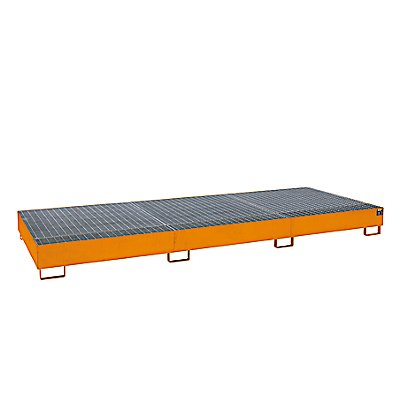 BAUER Stahl-Auffangwanne für Tankcontainer IBC/KTC - für 3 x 1000-Liter-Container