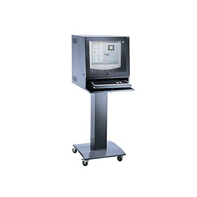 QUIPO Computersäule - für Bildschirm bis 20 - blaugrau