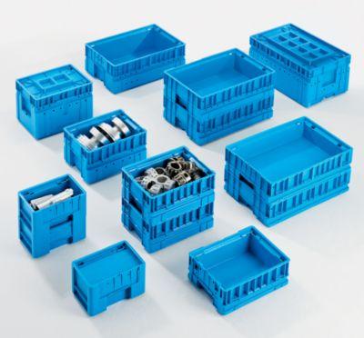 Kleinladungsträger C-KLT - Inhalt ca. 43 l, Außen-LxBxH 600 x 400 x 280 mm - lichtblau, VE 3 Stk