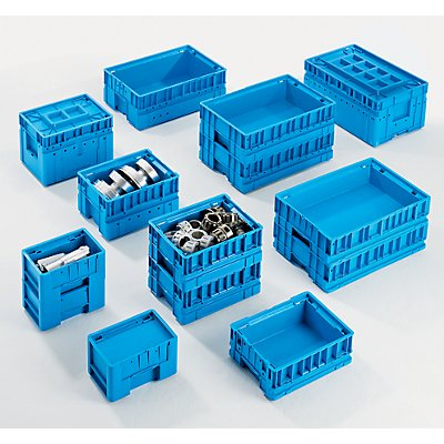 utz Kleinladungsträger C-KLT - Inhalt ca. 14 l, Außen-LxBxH 400 x 300 x 213 mm - lichtblau, VE 4 Stk