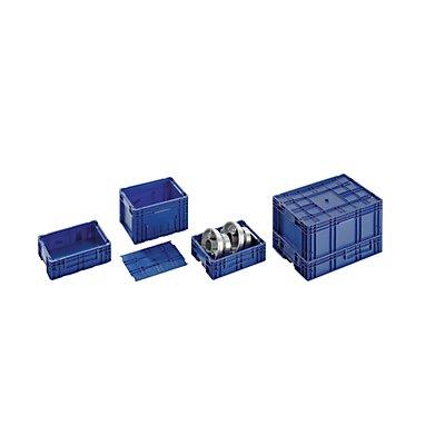 utz Kleinladungsträger R-KLT - Inhalt ca. 48 l, Außen-LxBxH 600 x 400 x 280 mm - saphirblau, VE 3 Stk