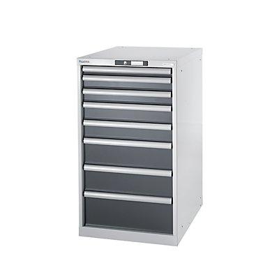 Lista Werkbank-Baukastensystem, Unterbauschrank - Höhe 1000 mm, 8 Schubladen