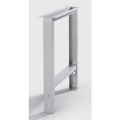 Lista Werkbank-Baukastensystem, Werkbankfuß - höhenverstellbar von 700 – 1050 mm - im 25-mm-Raster