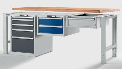 Lista Werkbank-Baukastensystem, Unterbauschrank - Höhe 800 mm, 5 Schubladen