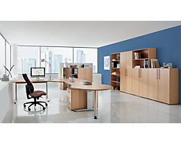 office akktiv NICOLA Table additionnel - forme ronde, avec pied support réglable en hauteur