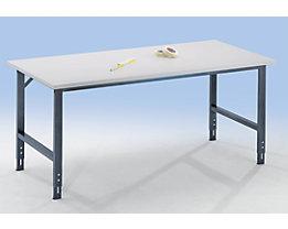 RAU Poste de travail réglable en hauteur - 760 – 1080 mm, plateau mélaminé