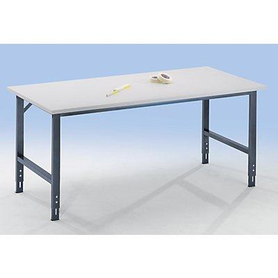 RAU Arbeitstisch, höhenverstellbar - 760 – 1080 mm, Spanplatte melaminharzbeschichtet