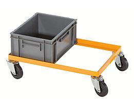 QUIPO Fahrgestell, Tragfähigkeit 200 kg - für Euroformat-Kisten, Ladefläche 610 x 410 mm