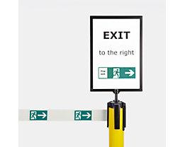 Schilderhalter für Gurtpfosten - im Format DIN A4, aus Plexiglas