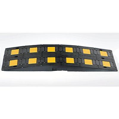 Fahrbahnschwelle aus Kautschuk - gelb / schwarz