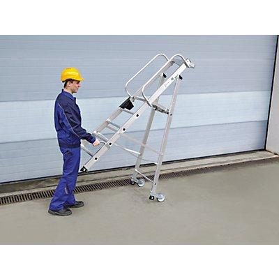 Günzburger Steigtechnik Rollenbeschlag-Set - 2 Hubrollen und 2 Schiebegriffen - für alle Größen