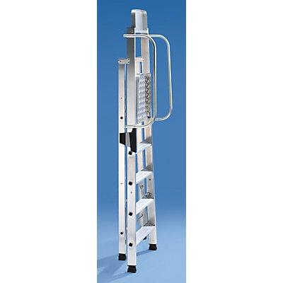 Alu-Stehleiter mit großer Plattform - Handlauf beidseitig