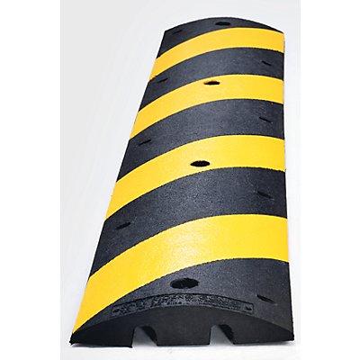Fahrbahnschwelle aus Recycling-Kautschuk - gelb / schwarz