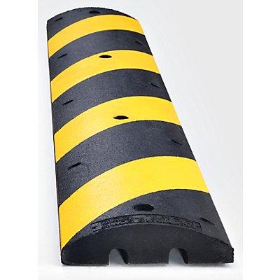 MORAVIA Fahrbahnschwelle aus Recycling-Kautschuk - gelb / schwarz - für Richtgeschwindigkeit max. 30 km/h