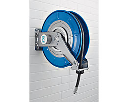 Schlauchaufroller für Luft, Wasser, Öl, bis 60 bar - Schlauch-Nennweite DN 12, Außenanschluss G 1/2″