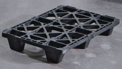 Halbpalette aus Kunststoff - LxB 600 x 800 mm, Traglast statisch 2500 kg