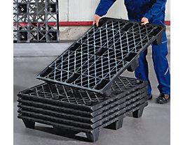 Palette normes Europe en plastique - L x l 1200 x 800 mm, charge max. statique 2800 kg