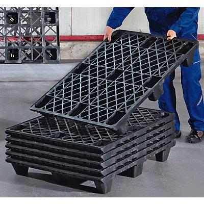 Europalette aus Kunststoff - LxB 1200 x 800 mm, Traglast statisch 2800 kg