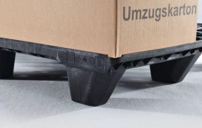 Displaypalette aus Kunststoff - LxBxH 600 x 400 mm, Traglast statisch 800 kg